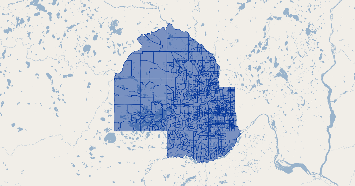 Hennepin County, MN 2010 Census Block Groups | GIS Map Data